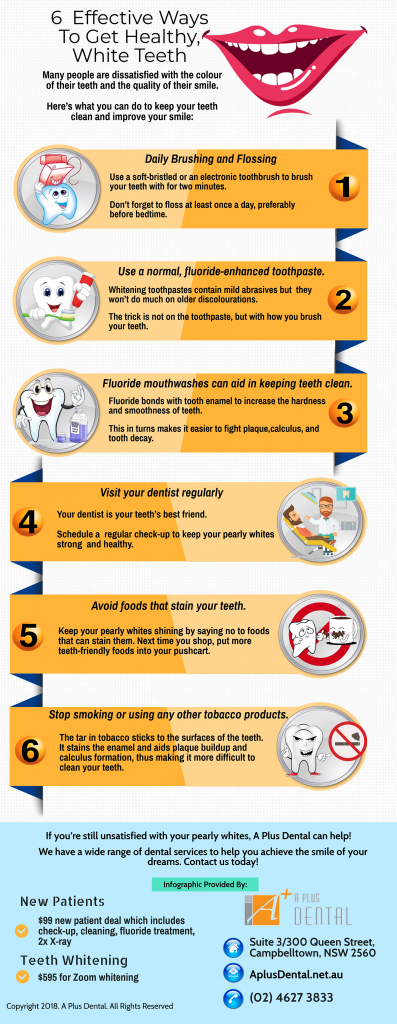 6 Effective Ways To Get Healthy White Teeth | Dentist Campbelltown
